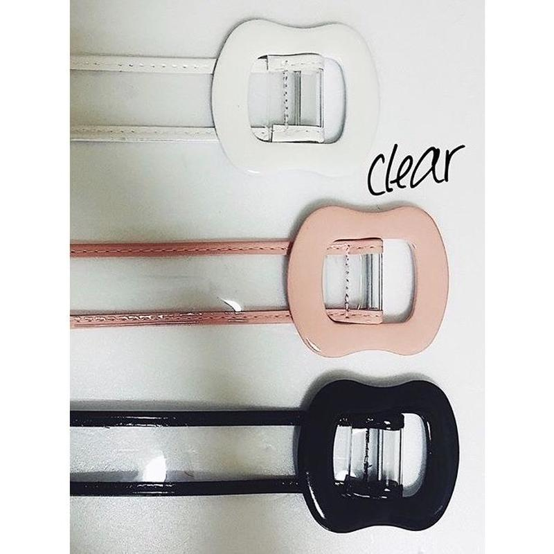 piping clear belt