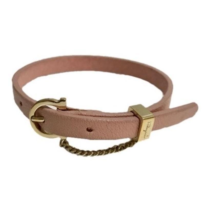 【スペシャルプライス】Ferragamo baby pink leather bracelet