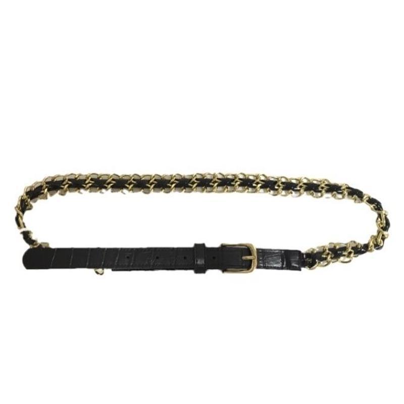 leather chain belt
