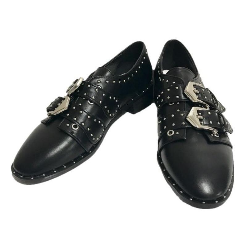 studs belt design Loafer