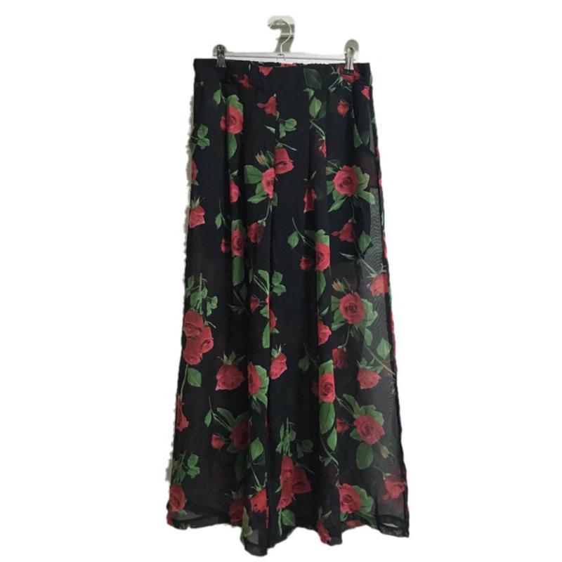see-through rose pants