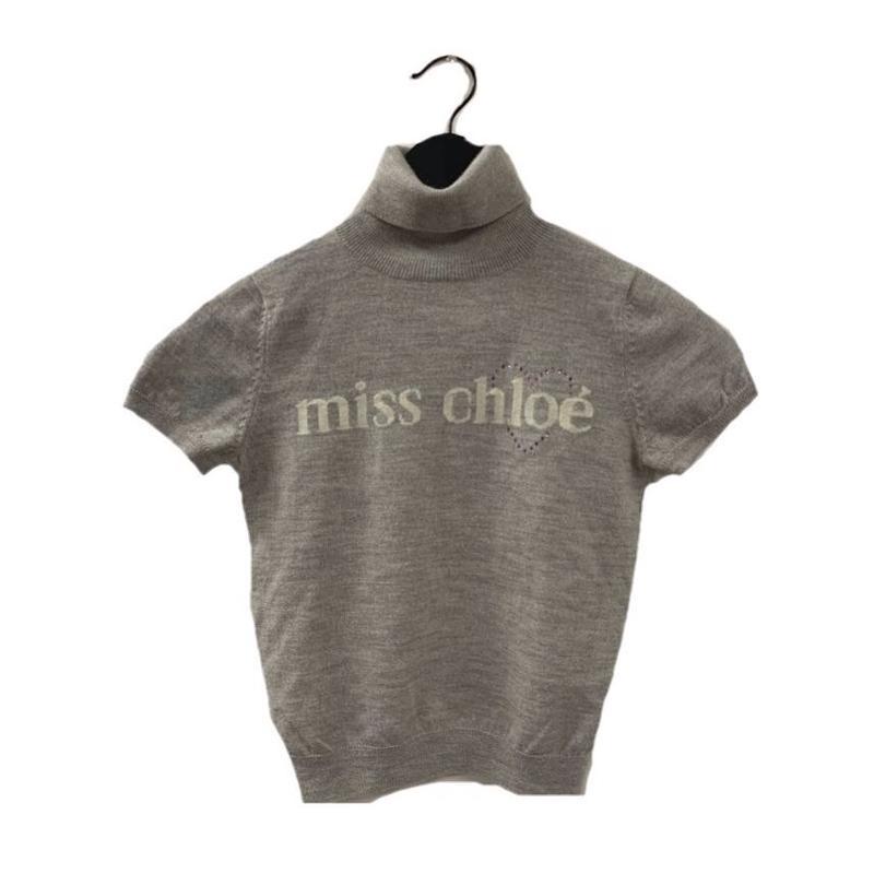 Chloé logo design summer knit tops light gray(No.3324)