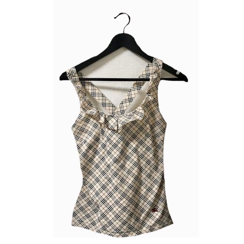 Burberry check design frill tops(No.3032)