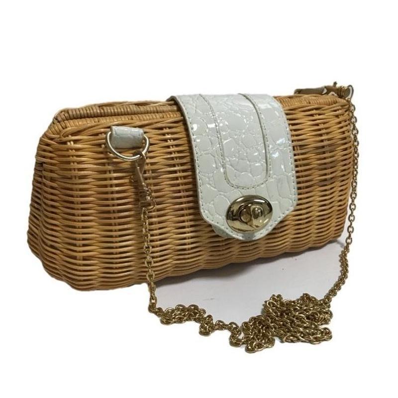chain bucket shoulder bag