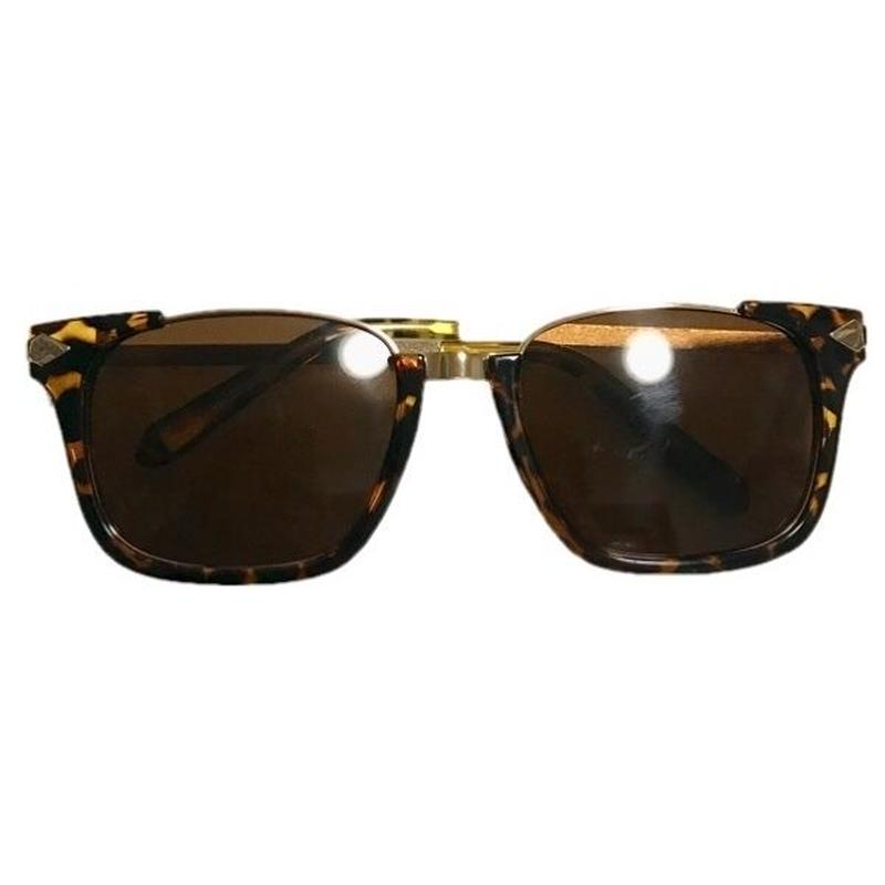 Tortoiseshell motif sunglasses