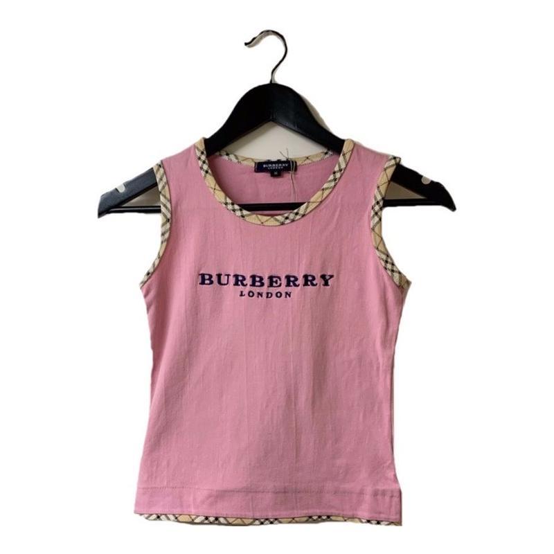 Burberry logo check design tops pink(No.2957)