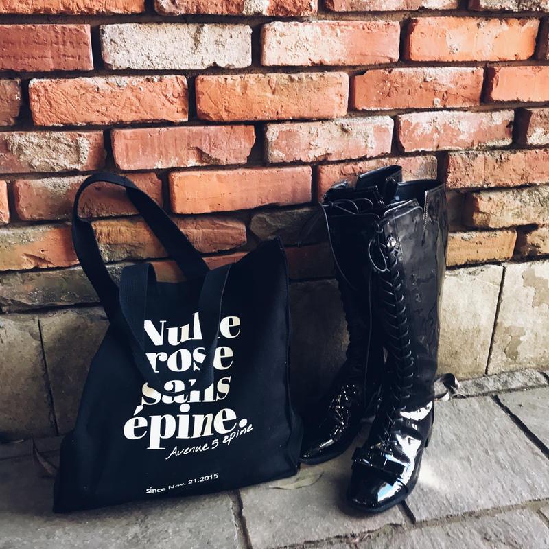 épine original black tote bag