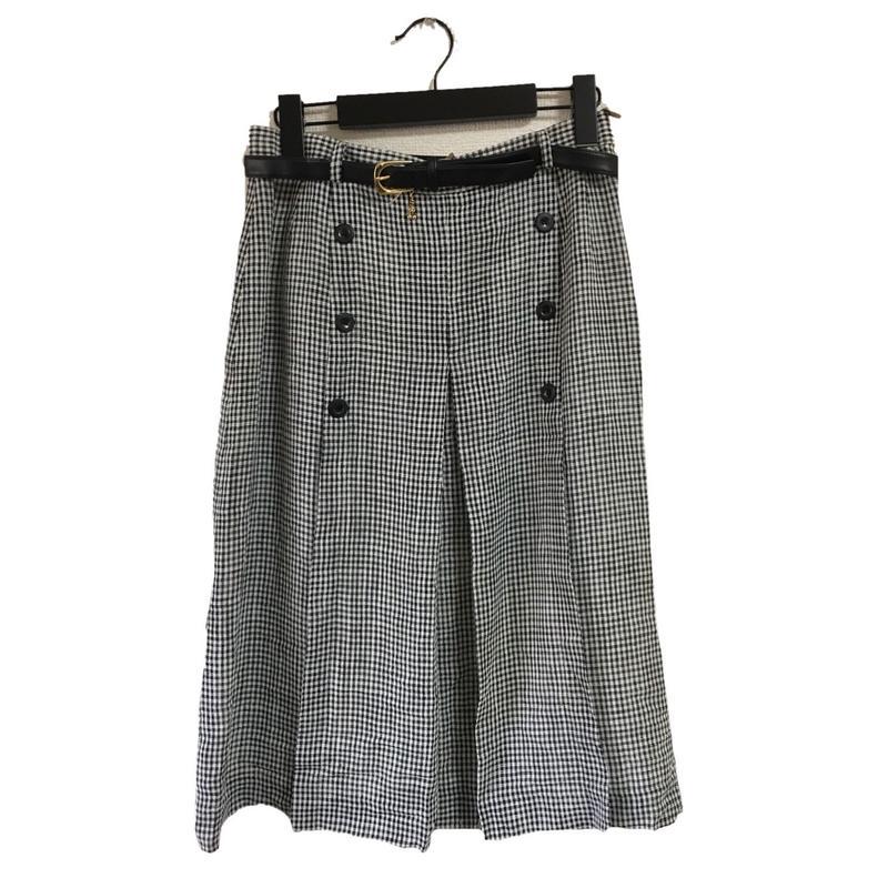 monotone gingham check  design skirt(No.2205)