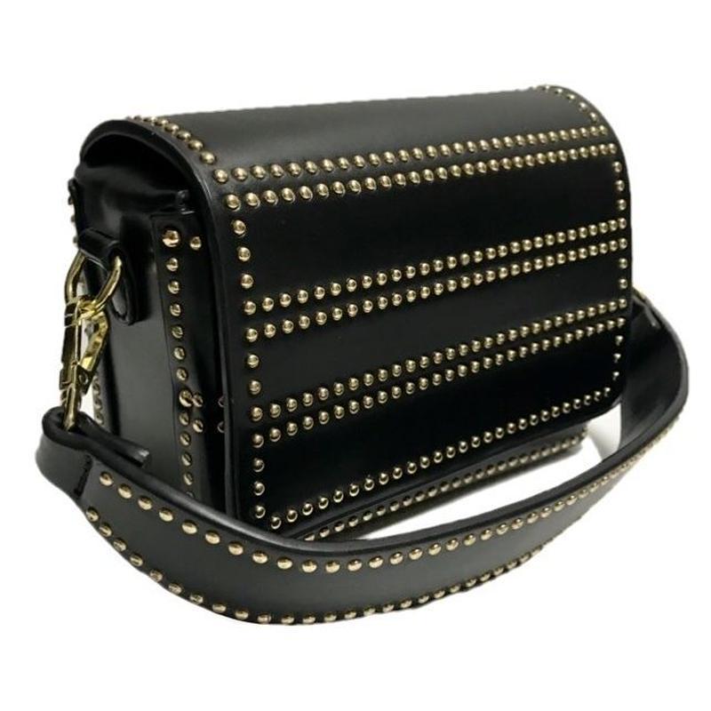 gold studs 2way shoulder bag