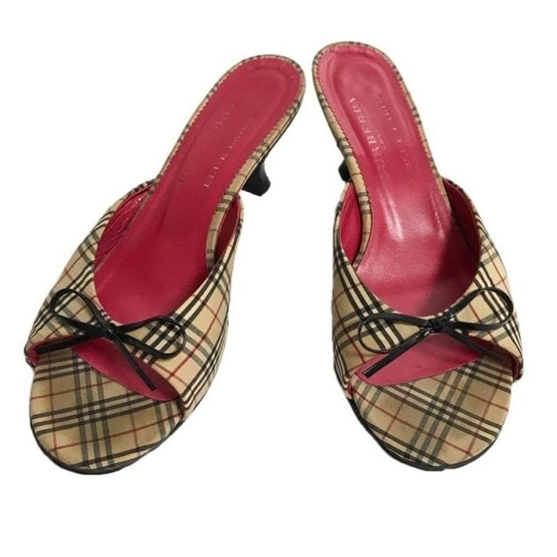 Burberry check ribbon design sandal