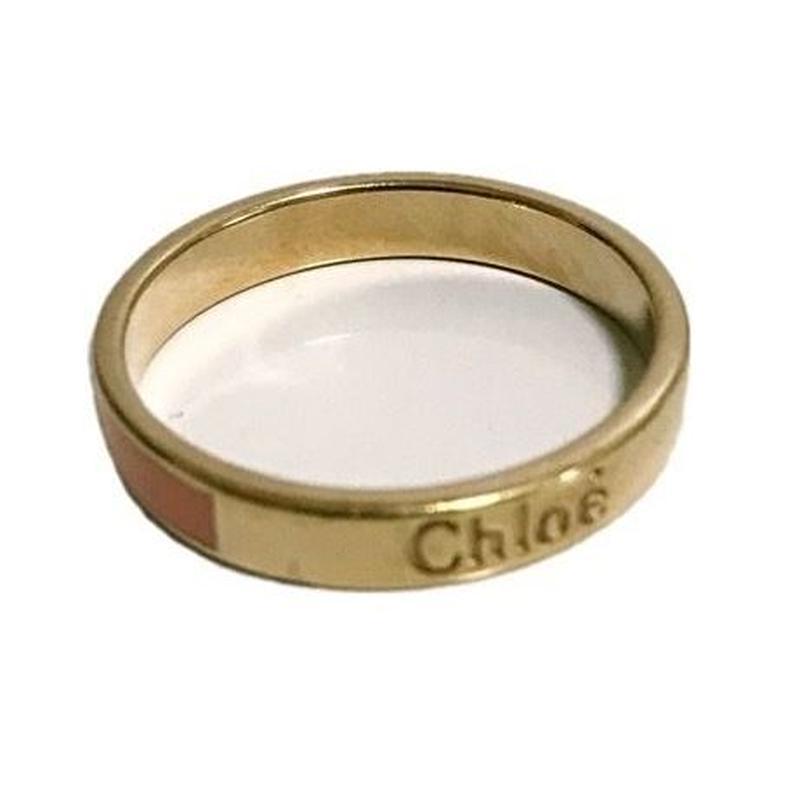 Chloé  logo ring pink