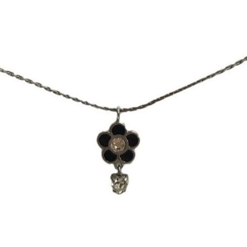 MARY QUANT flower design necklace