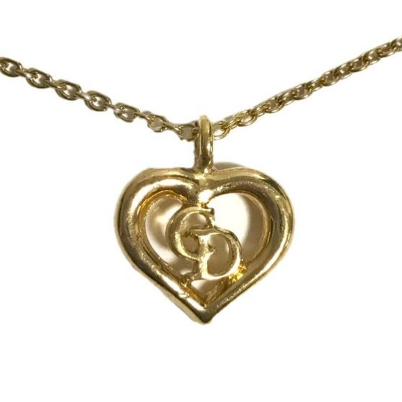 Dior logo Heart gold necklace(No.3182)