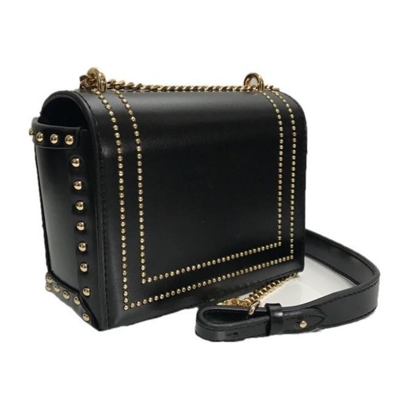 gold studs square chain bag