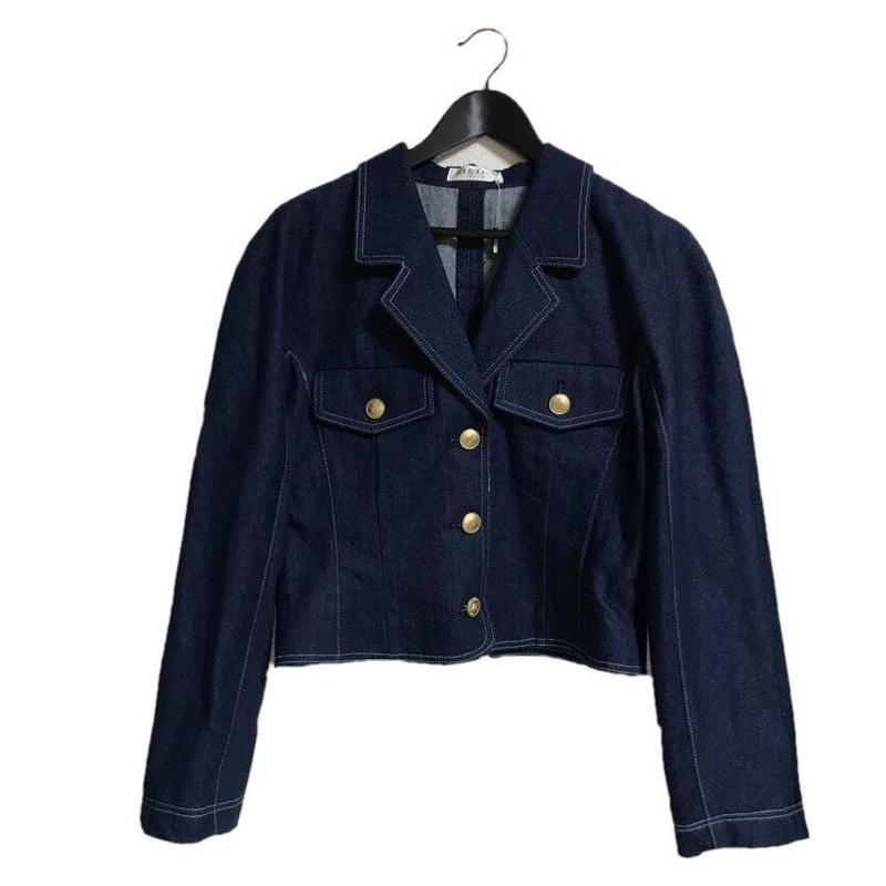 back lace up denim jacket