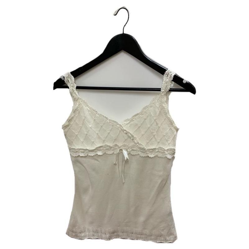 summer knit ribbon camisole(No.2962)