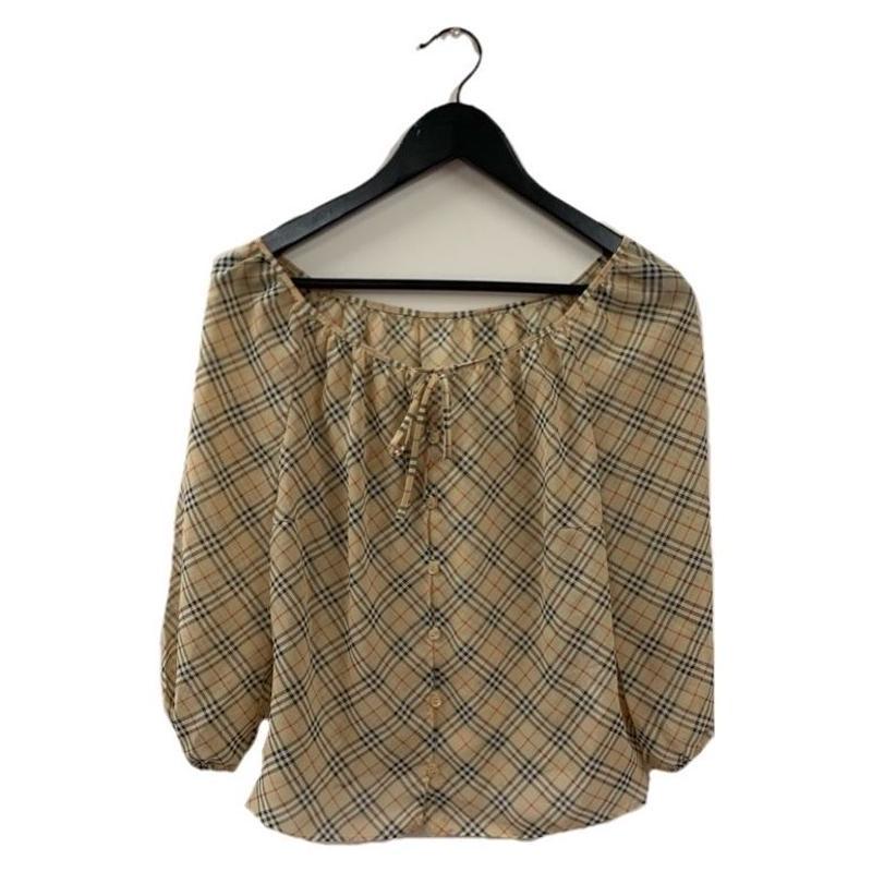 Burberry check design chiffon blouse(No.1666)