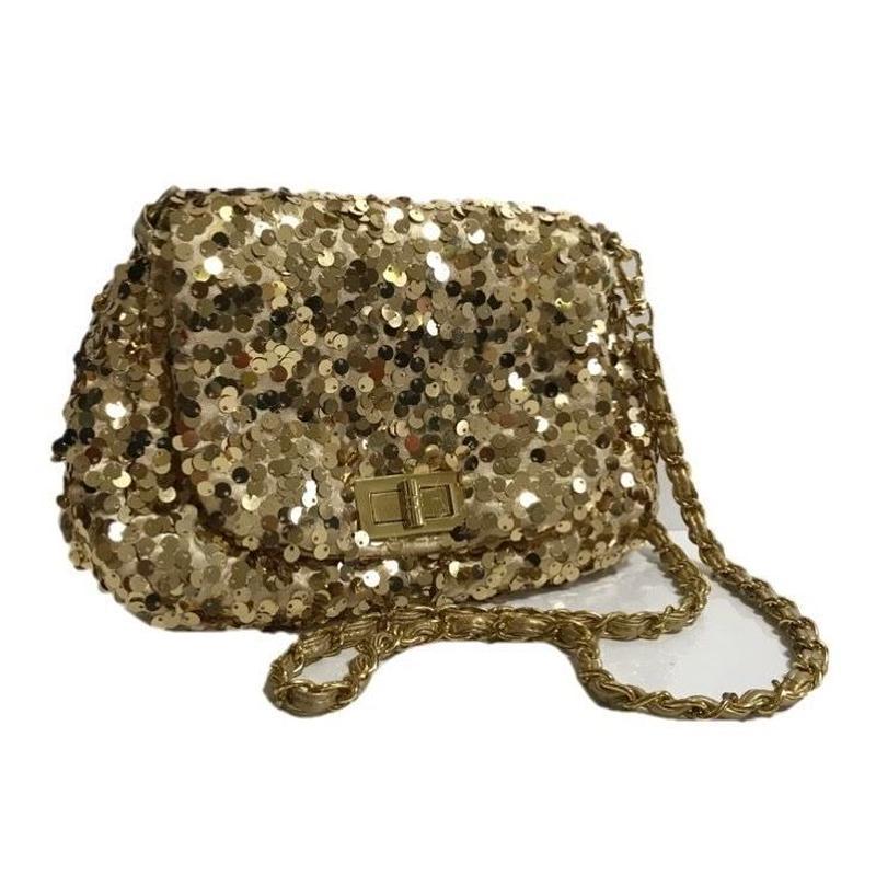 span coal design shoulder bag gold