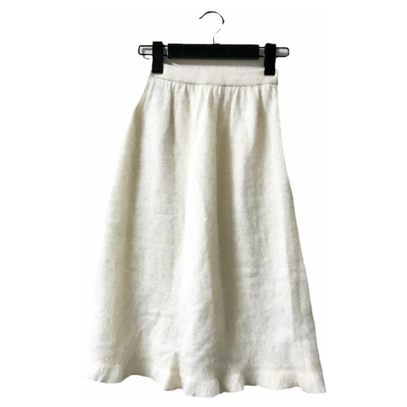 mohair white knit skirt