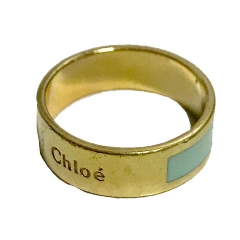 Chloé logo ring royal blue