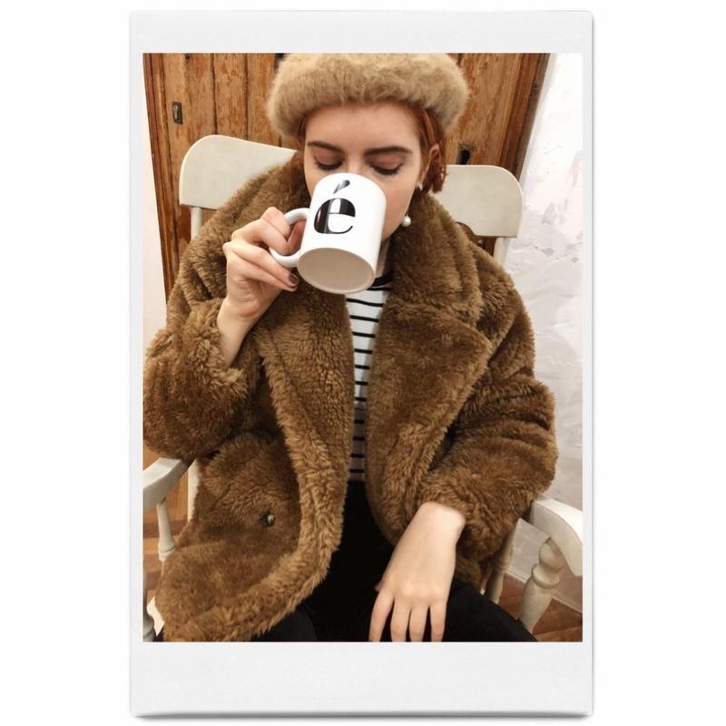 teddy bear boa coat