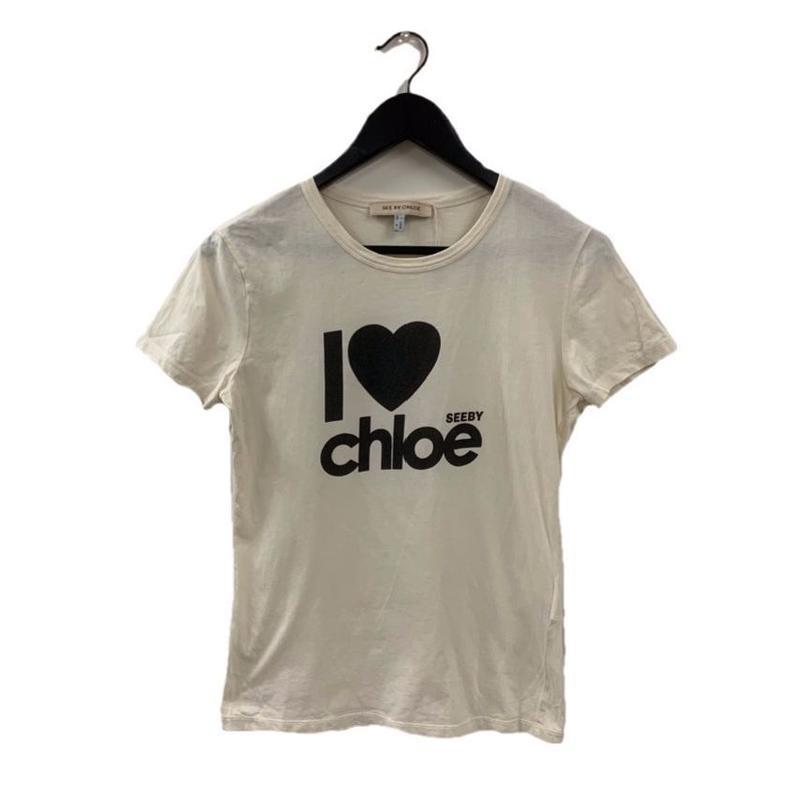 Chloé logo design tee white(No.3162)