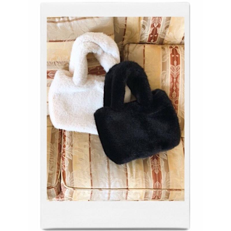 fur hand bag