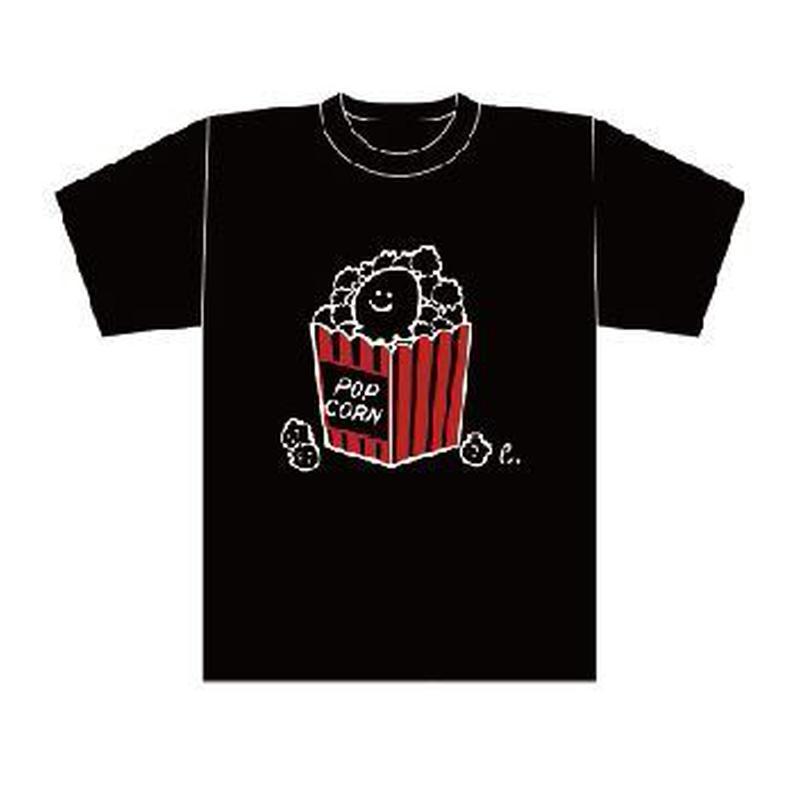 erica2018年ワンマンライブグッズ【えりちゃんがポップコーンになっちゃったよTシャツ】(黒)
