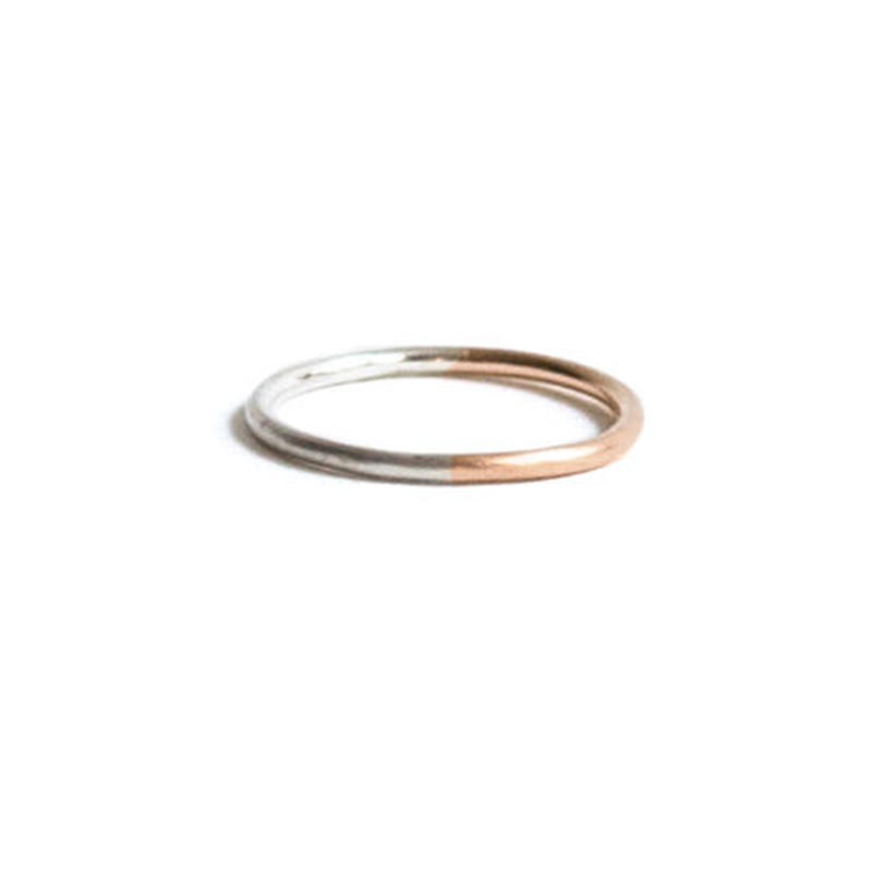 Double Color Gold Ring 1.2mm (#7, #9)
