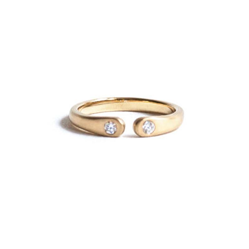 Wrap Ring 2 Diamond Ring For Women K18YG (#11, #13)