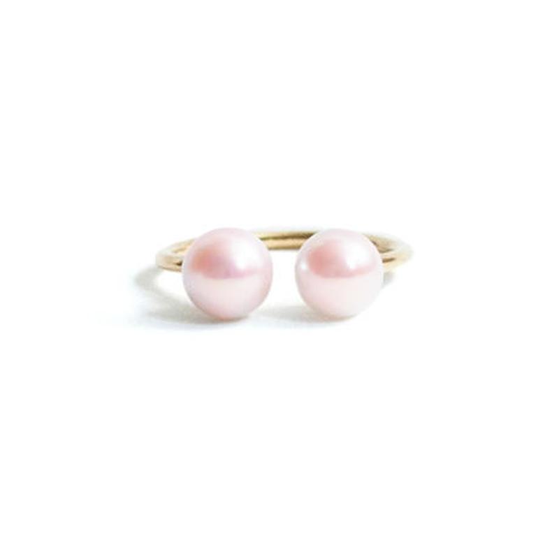 Pearl Double Head Ring  Symmetry (L)