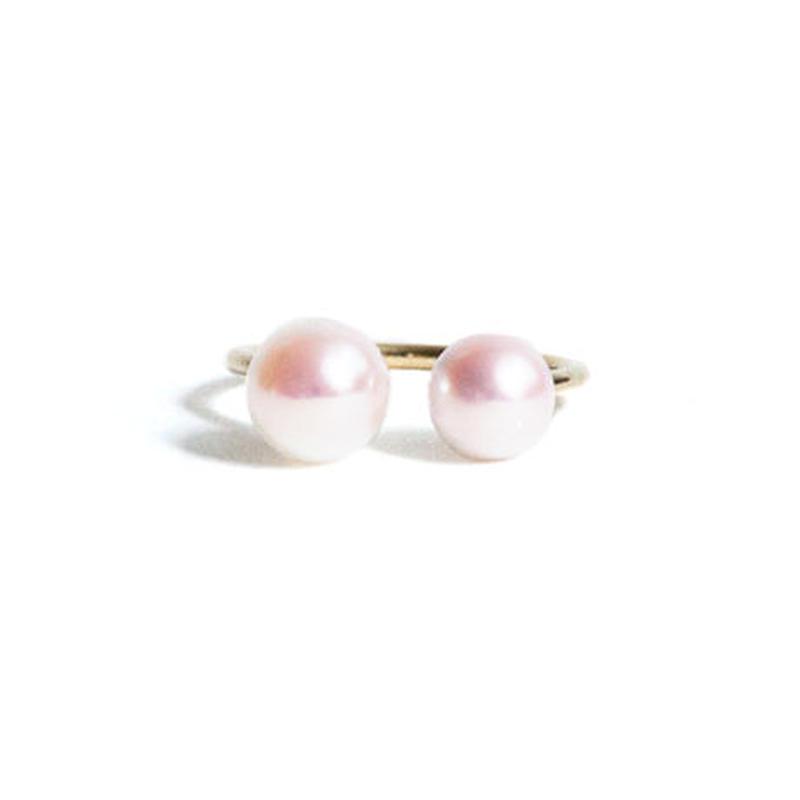 Pearl Double Head Ring Asymmetry (L)