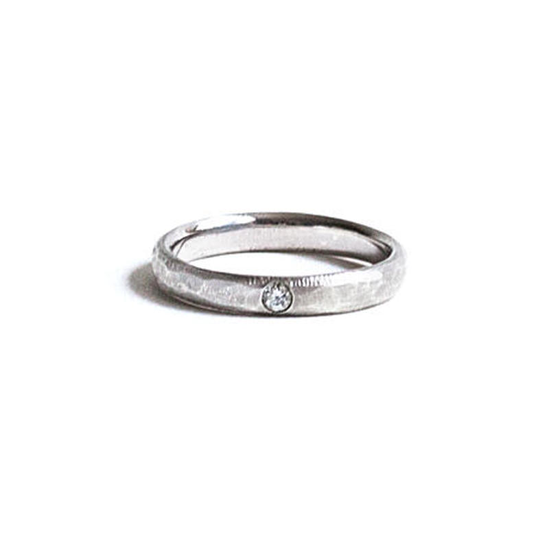 Marriage Texture Ring For Women K18WG (#7, #9)