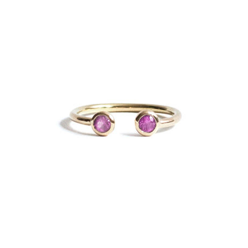 Sapphire Double Head Ring (S)
