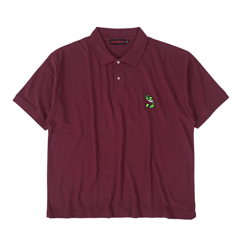 ALIEN POLO SHIRT / BURGUNDY