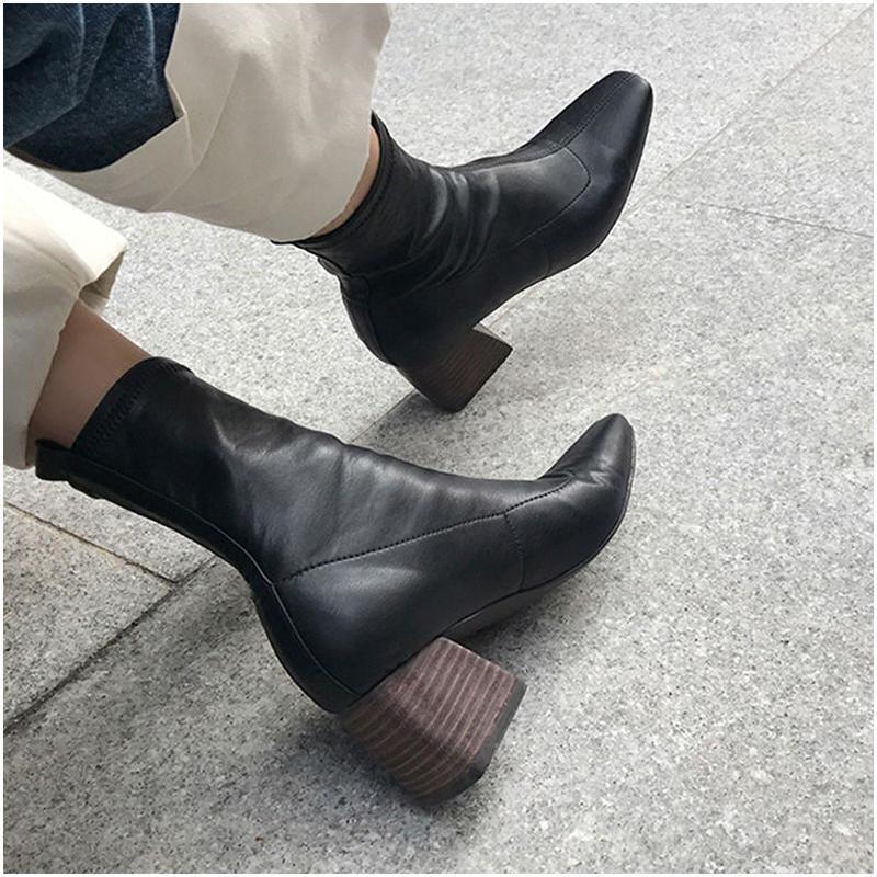 【EruMon】エコレザーヴィンテージ調ブーツ ショートブーツ ヴィンテージ ブーツ