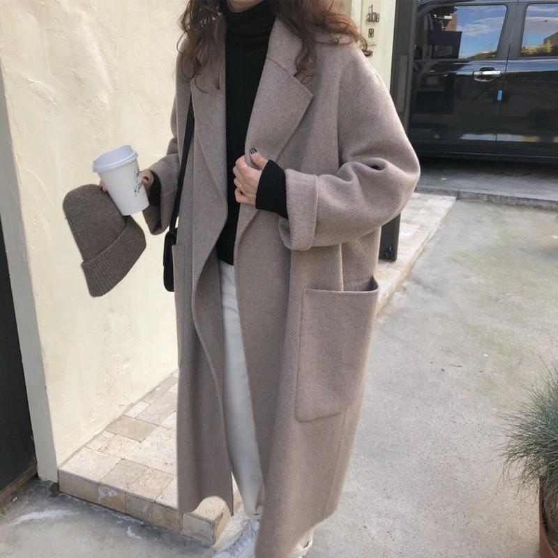 【EruMon】ウールブレンドオーバーシルエットコート ロングコート ゆったり