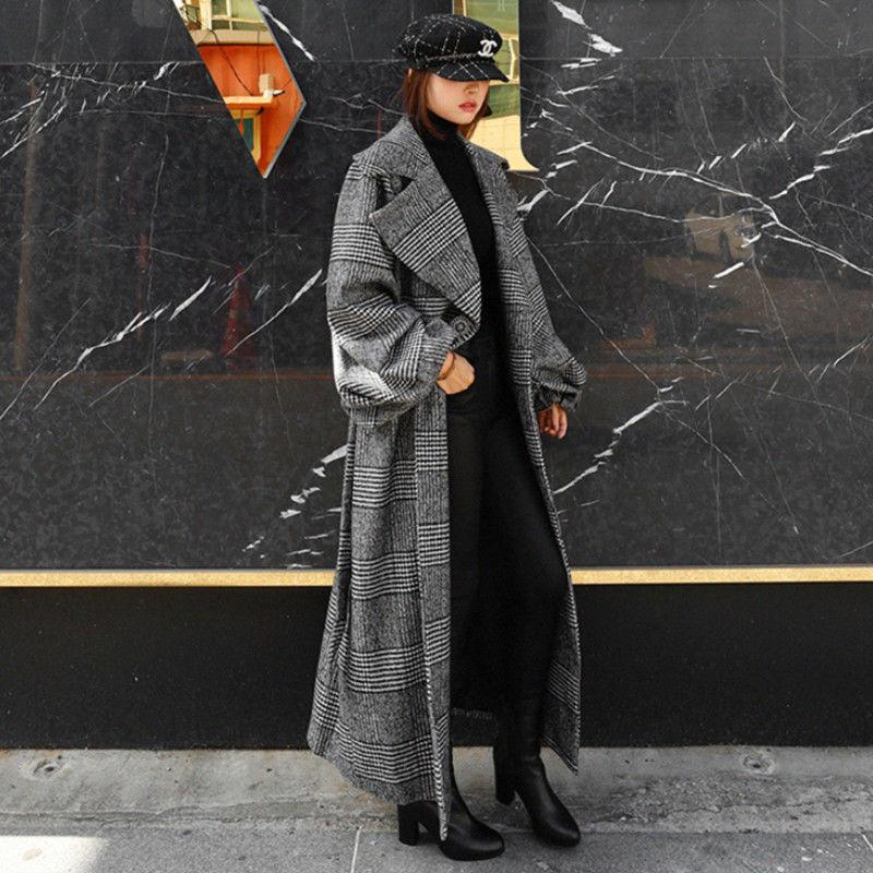 【EruMon】ボリュームスリーブオーバーチェックコート オーバーサイズ ボリューム袖 グレンチェック