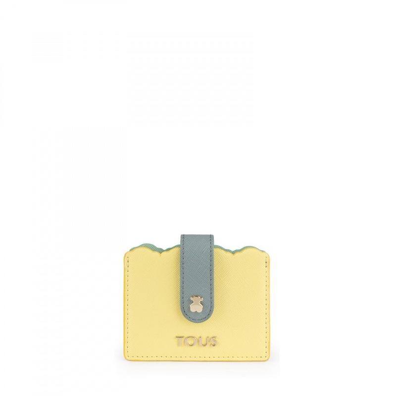カードケース Carlata イエロー/ライトブルー / 合成皮革(995960348)