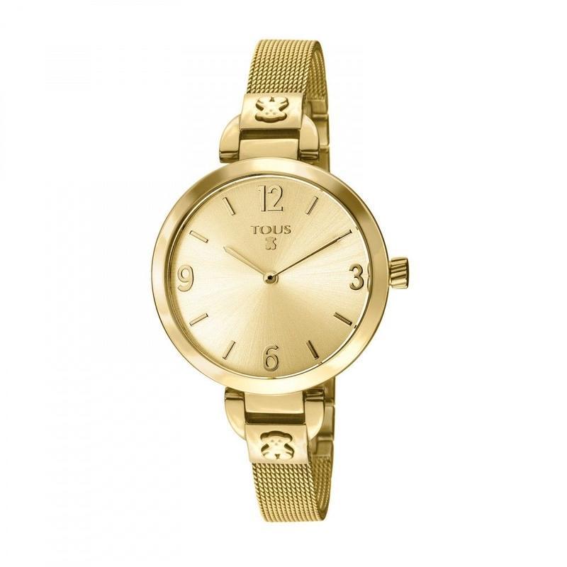 ゴールドのステンレス IP 腕時計 Boheme(300350620)