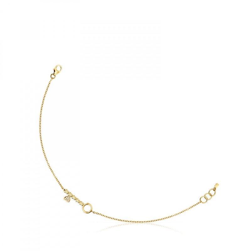 ダイヤモンドが付いたゴールドのキーブレスレット San Valentín(915301010)