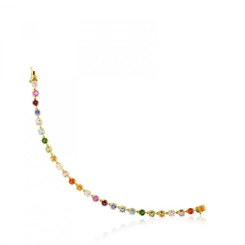 ブレスレット Mix Color カラーストーン / 18金ゴールド(512851010)