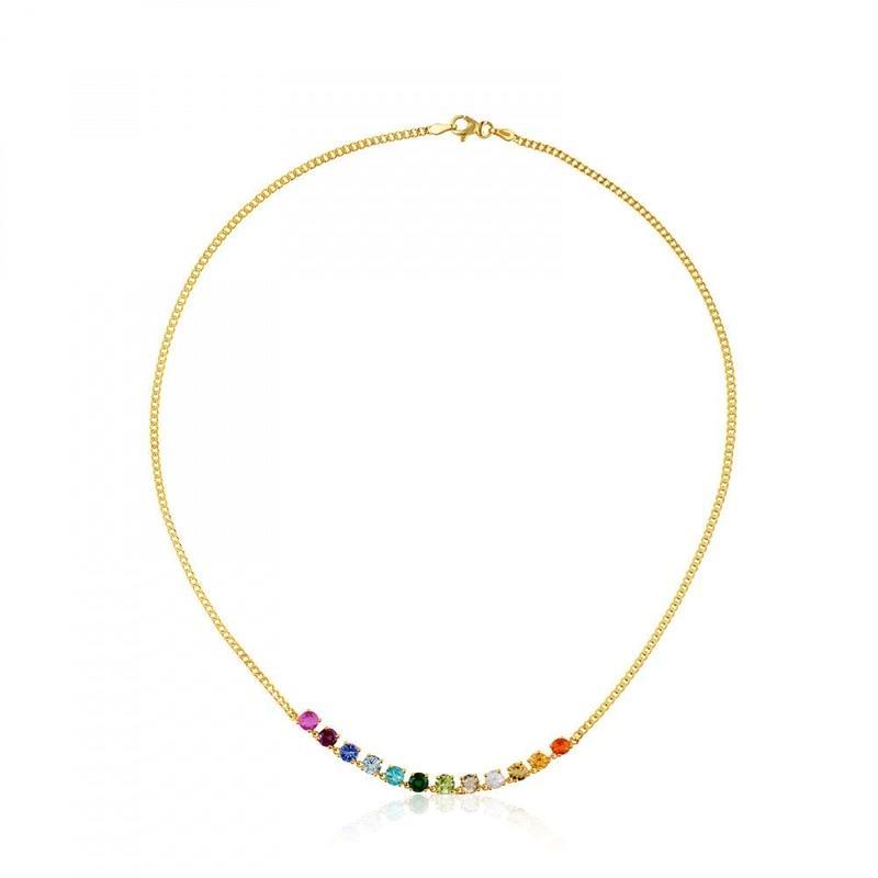 ネックレス Mix Color カラーストーン / 18金ゴールド / 40cm(512852030)
