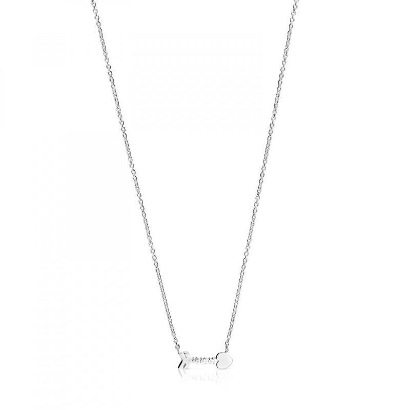 シルバーの矢形ネックレス  San Valentín(915302510)