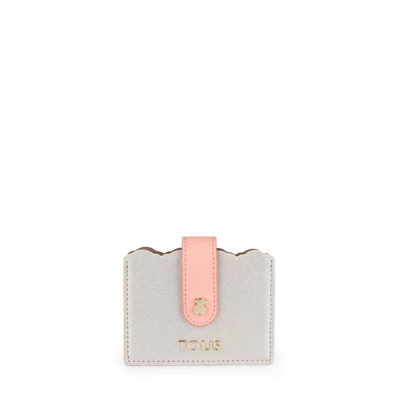 カードケース Carlata シルバー/ブラウン / 合成皮革(995960347)