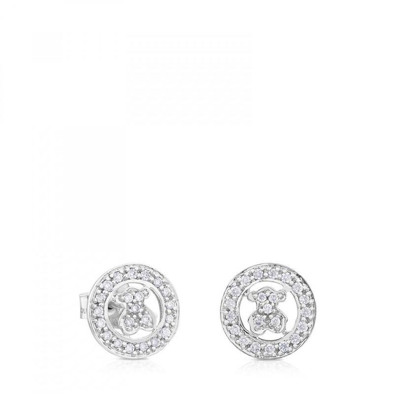ピアス TOUS Diamondsくま ダイヤモンド / 18金ホワイトゴールド(511023000)