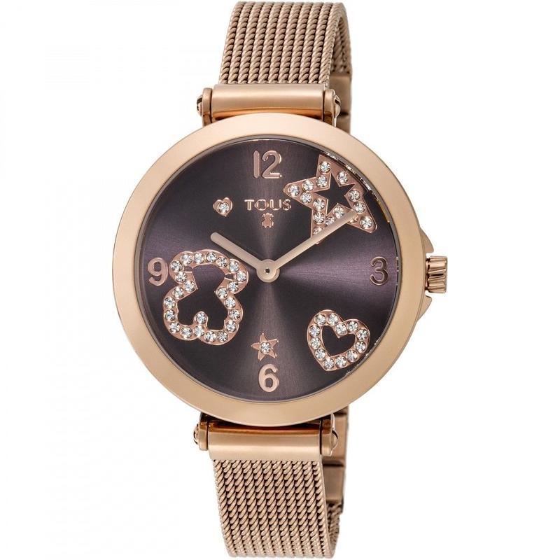 腕時計 Icon Meshブラウン ベルト:ステンレススチール / ピンクゴールドコーティング / 33mm(600350385)