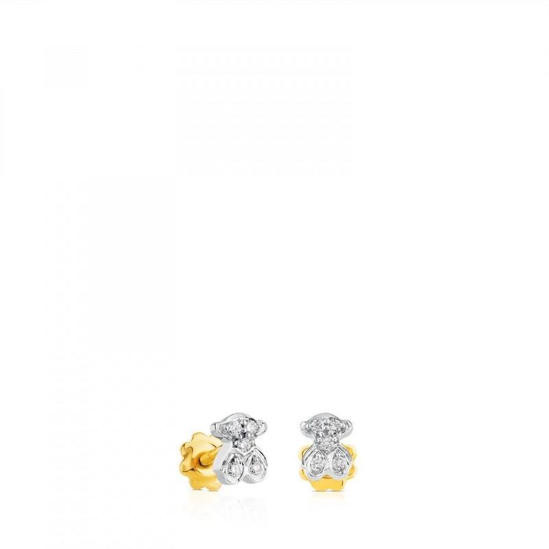ゴールドとダイヤモンドのピアス Puppies(615260480)