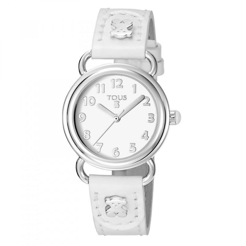 腕時計 Baby Bearホワイト ベルト:牛革 / ステンレススチール/ 28mm(500350175)