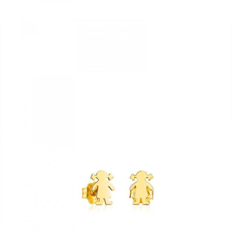ゴールドのピアス TOUS Basics(411001592)